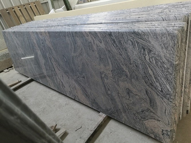 China Juparana Grey Solid Surface Granite Prefab