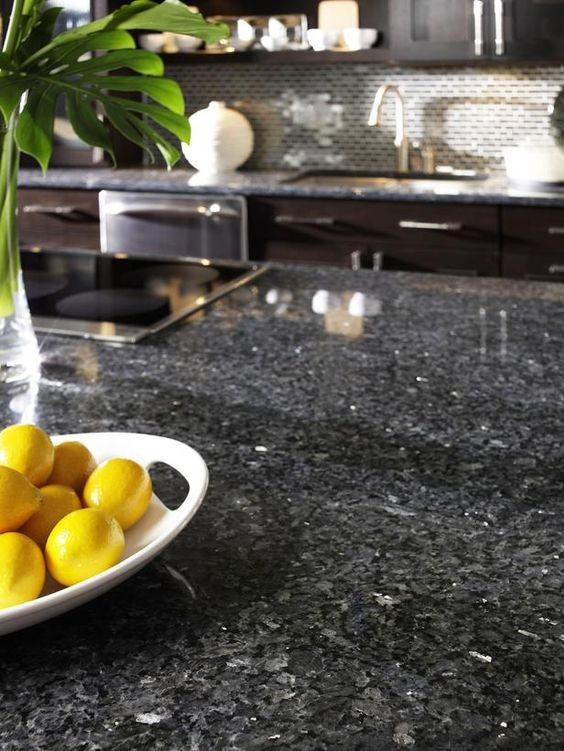 Giallo Pearl Blue Pearl Granite Kitchen Countertop