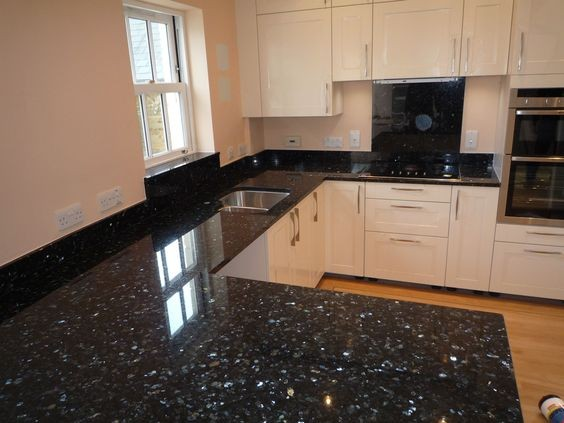 Kitchen Countertops Product : Giallo pearl blue granite kitchen countertop