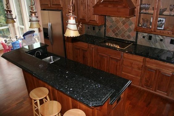 Giallo Pearl Blue Pearl Granite Kitchen Countertop