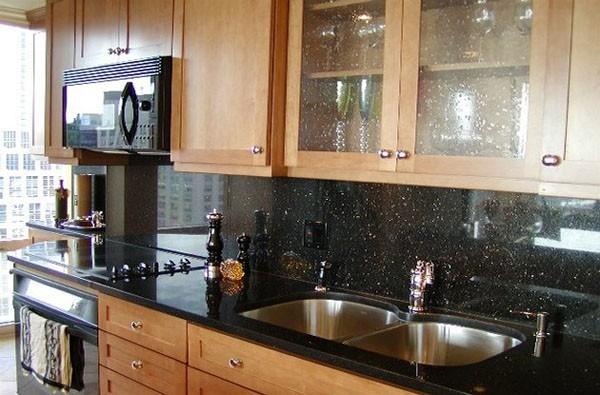 Perfect Black Galaxy Black Granit Solid Surface Countertop