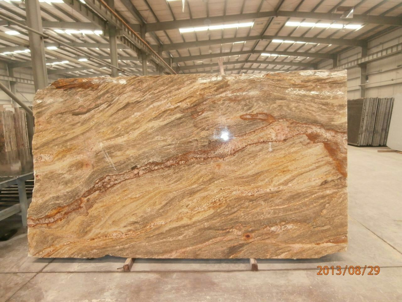 Imperial Gold Slabs Solid Surface Countertops