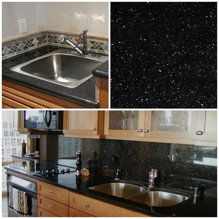 Indian Black Galaxy Black Granite Wholesale Slabs