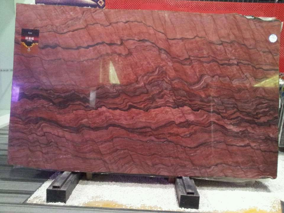 Product Red Granite : Natural quartzite revolution fire red granite slab