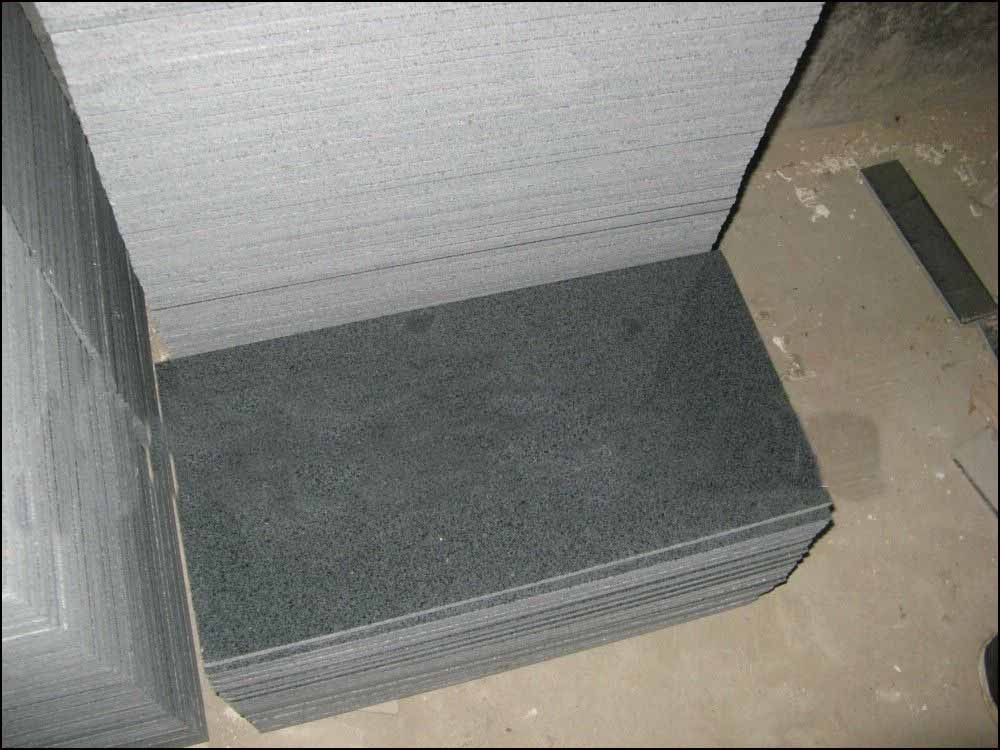 sesame black granite g654 honed