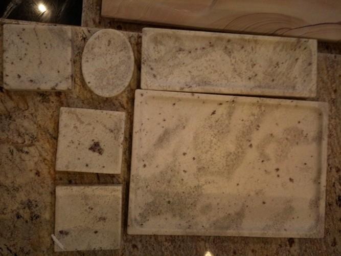 stone art article andromeda white stone soap dish