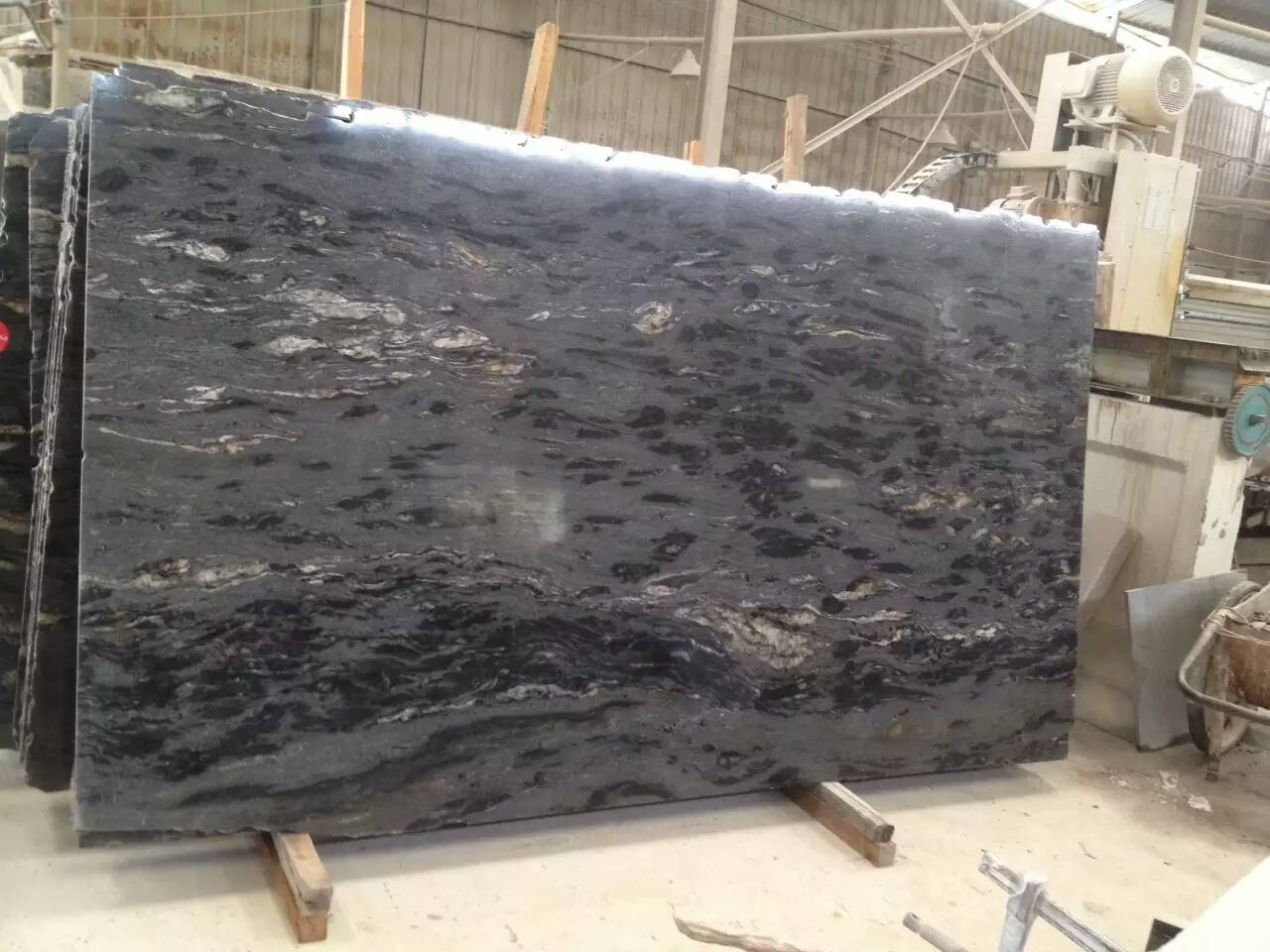 Black Granite Slabs : Cosmic black granite slabs bathroom vanity top