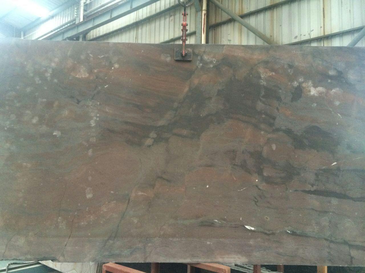 Elegant Brown quartz polished granite countertops