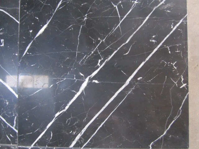 Building Material Black Marquina Marble Slab