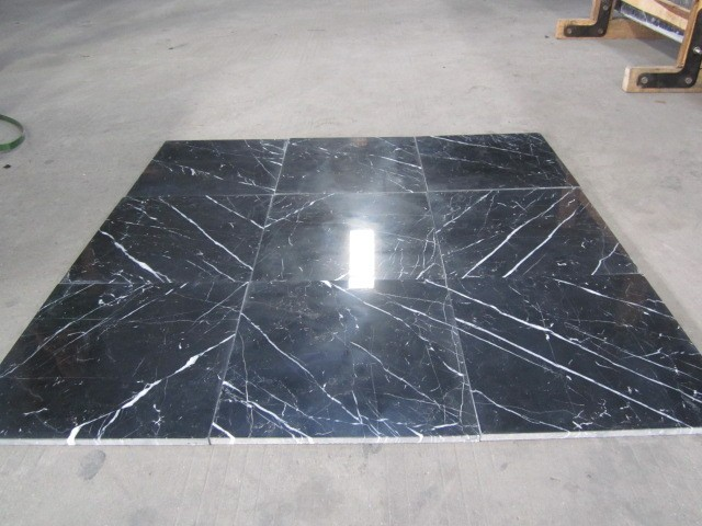 China black and white,nero marquina bathroom floor