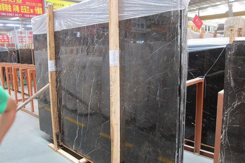 St Laurent Black Marble  countertop tombstone