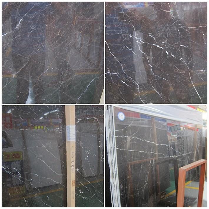 St Laurent cheap Black Marble floor stair paving