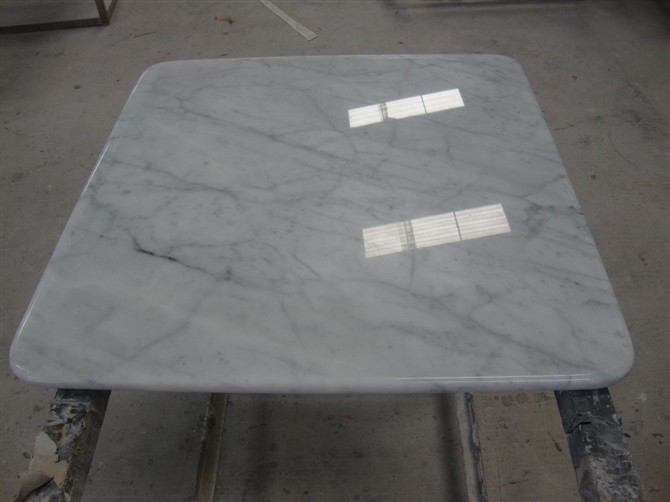 Italy White Coffee Carrara Marble Table Top