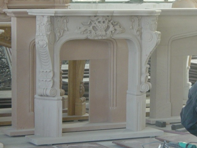Home Decoration Natural Stone Marble Fireplace