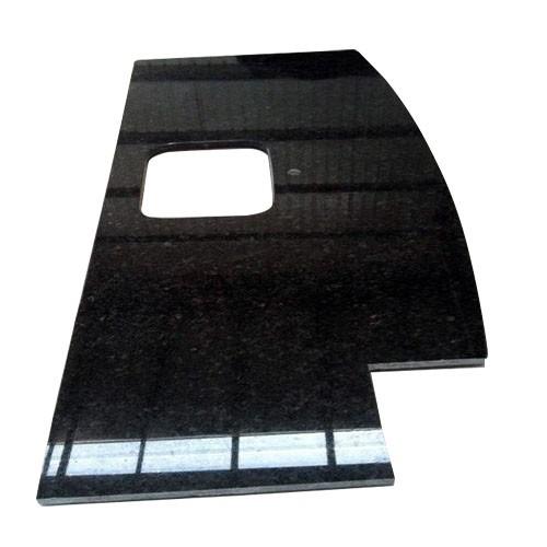 China Polished Granite Black Galaxy Countertop