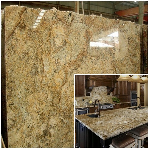 Natural Gold Yellow Granite Slab For Countertop