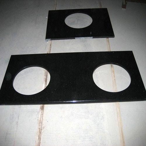 Polished Granite Black Galaxy Countertop