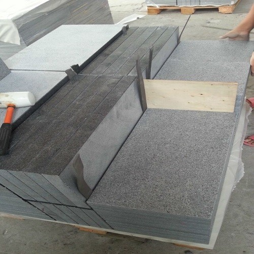 Flamed Natural Grey Granite Slabs for Paving Stone