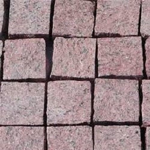 Flamed Red Granite Cube Stone for Garden Paving