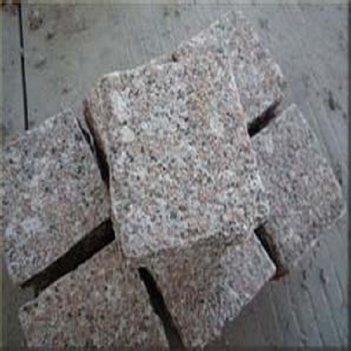 Natural Flamed G648 Pink Granite Cubic Stone