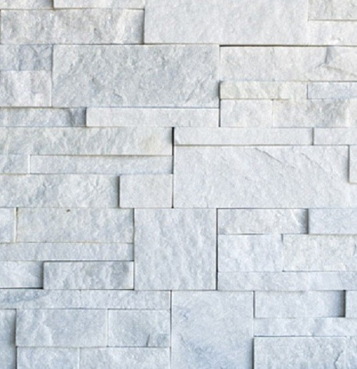 Snow White Quartzite Ledge Stone/Wall Panel