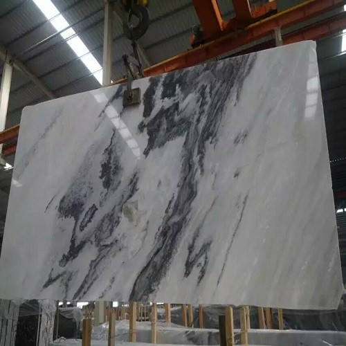 Chinese Landscape Painting Marble White/Grey/Black