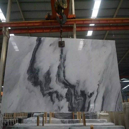 Natural Polished Chinese Landscape Painting Marble