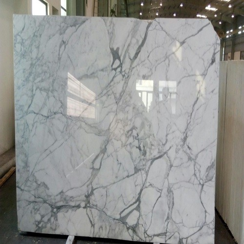Natural Polished Sataurio White Marble Slab