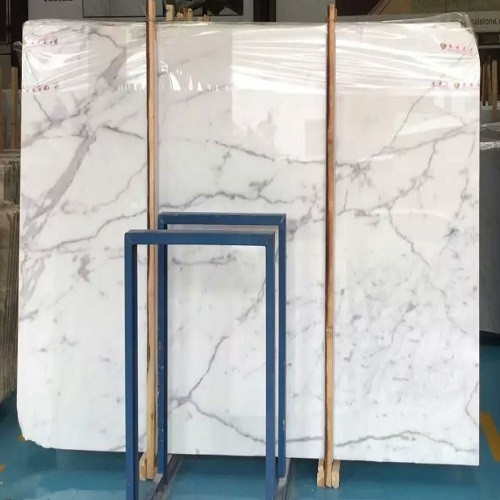Polished Natural Snow White Marble Slabs
