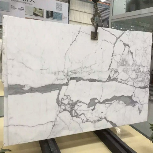 Polished Snow White Marble Slabs