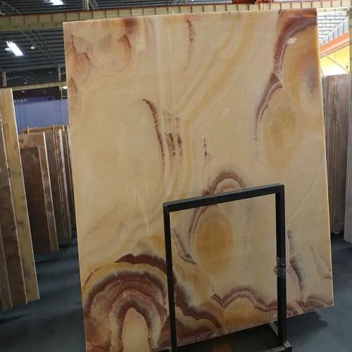 Polished Yellow Onyx Marble Slab for Flooring / Wa