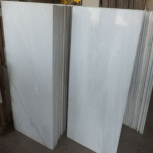 Polished China White Marble