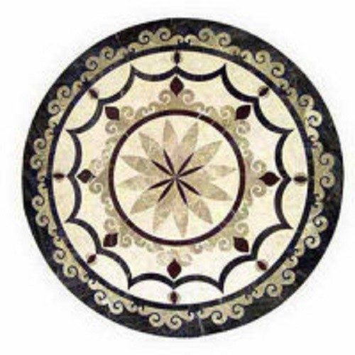 Decorative Marble Water Jet Medallion Tile