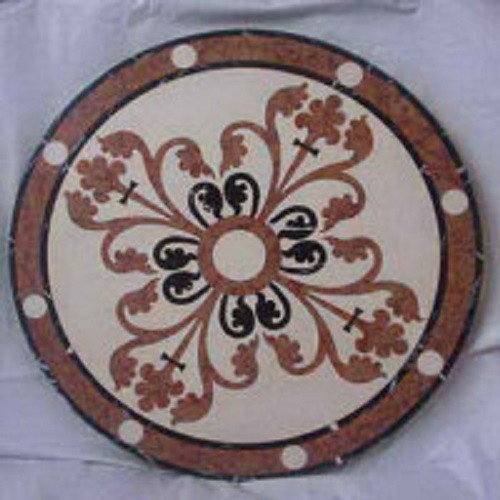 Marble Water-Jet Medallion Tile for Hall Flooring