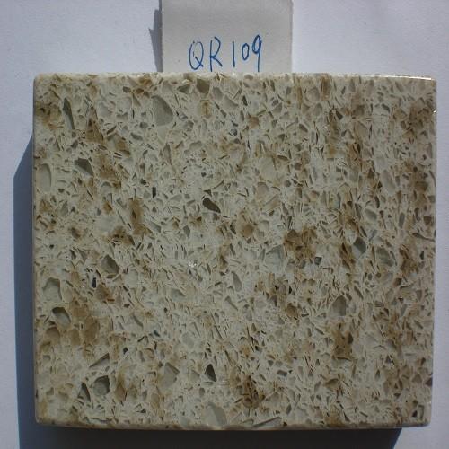 Beige/White Artificial Quartzite Stone (QR109)