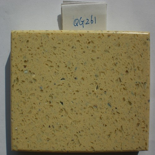 Yellow/Lemon Artificial Quartzite Stone (QG261)