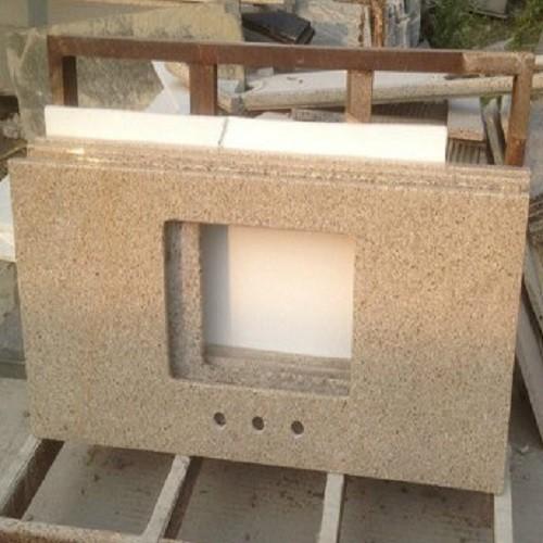 Polished Sunset Gold Granite Worktops for Indoors