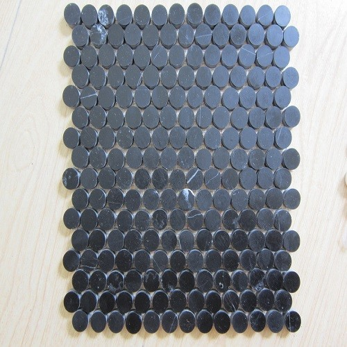 Black Marble Mosaic Tiles for Home Decoration