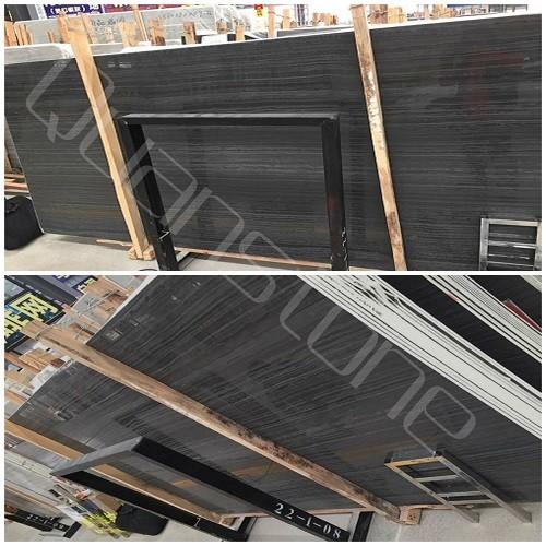 Black Wood Grain Marble for Floor/Wall Tiles