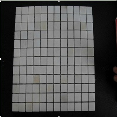 Polished White Marble Mosaic For Flooring/Wall Til