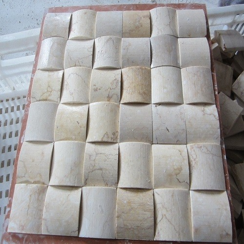 Polished White Marble Mosaic Wall and Flooring