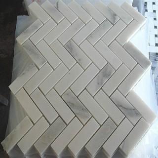 Rectangle Carrara Marble Mosaic Tiles for Bathroom