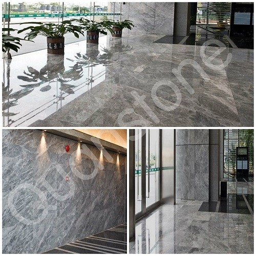 Silver Mink Marble Wall for Indoors/Outdoors