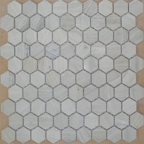Hexagon White Carrara Marble Mosaic