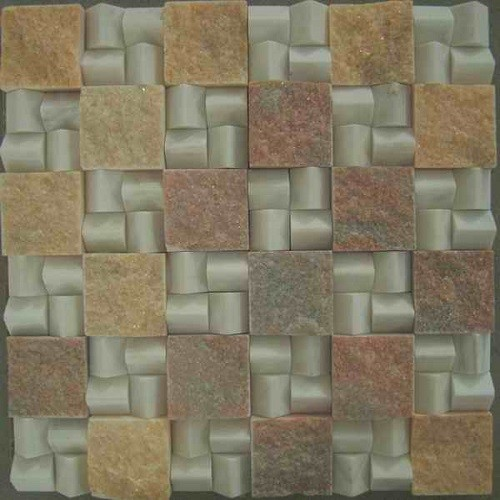 Natural Stone Square Marble Mosaic Floor Tiles