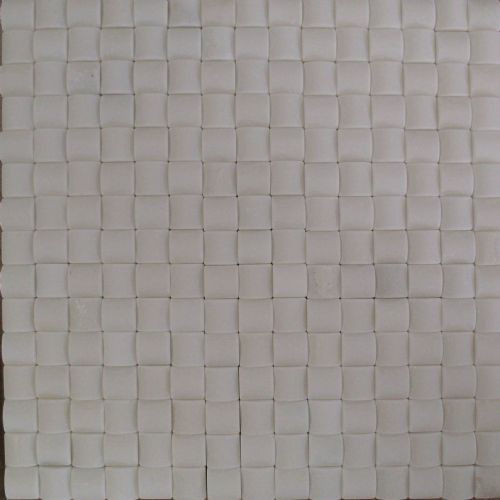 Square White Marble Mosaic Tiles for Bathroom