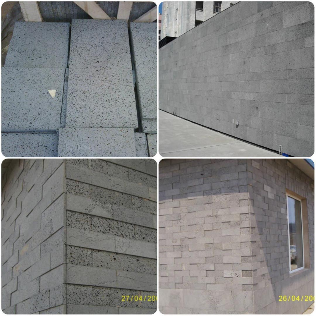 Basalt Lave Stone for Wall Cladding System