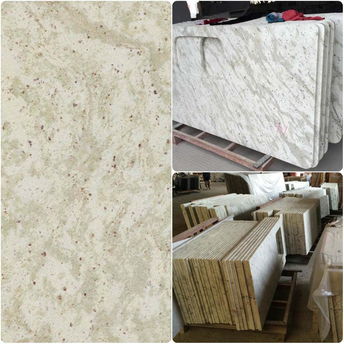 Andrameda kashimire White granite countertops