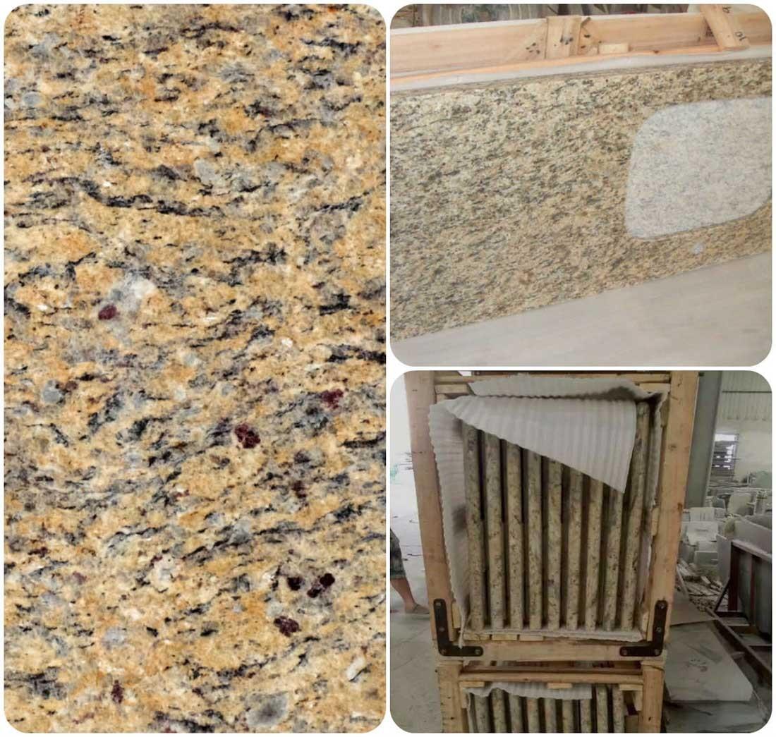 new venation gold granite countertops
