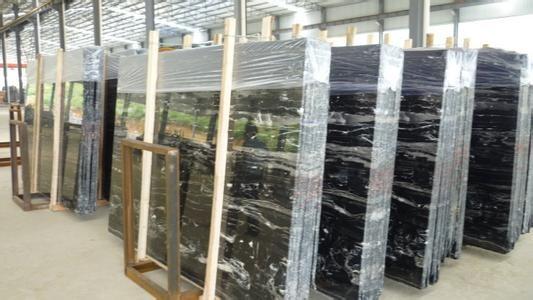 Silver Dragon Marble Tiles & Slabs,China Black Mar